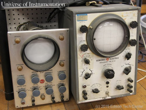 Old oscilloscopes